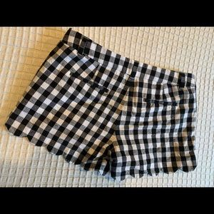 JCREW black and white checkered shorts!